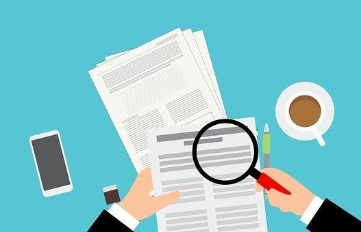 Audit, Report, Verification, Magnifier