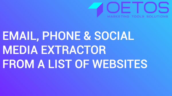Email, Phone & Social Media Extractor From A List Of Websites
