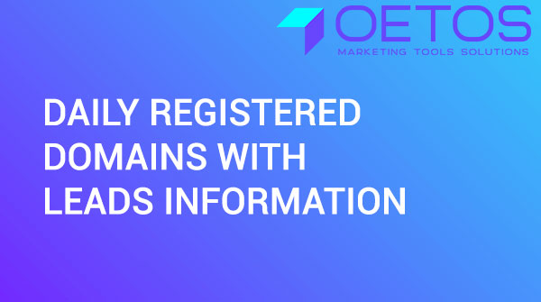 Daily Registered Domains With Leads Information
