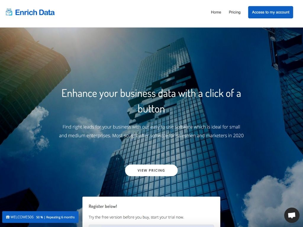 Enrich data find new leads tools